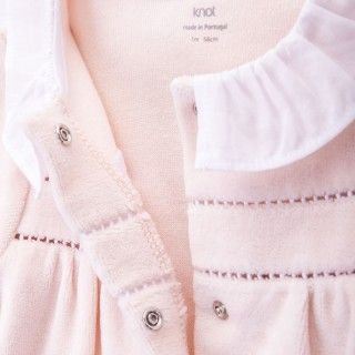 Hepburn soft velvet babygrow