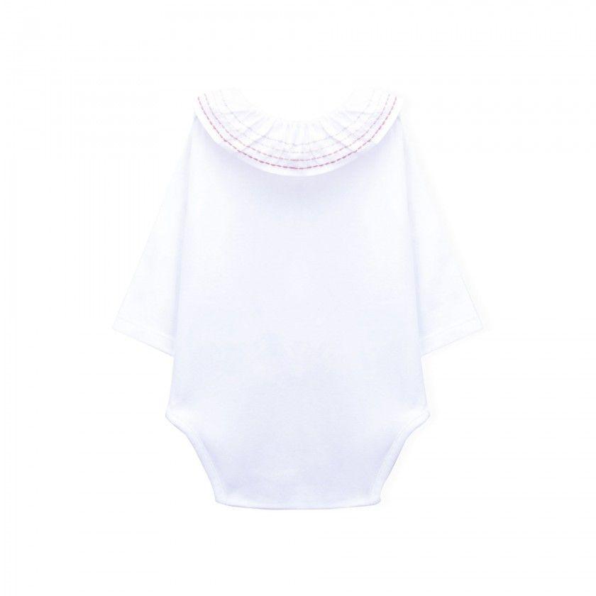 Body bebé manga comprida frou-frou