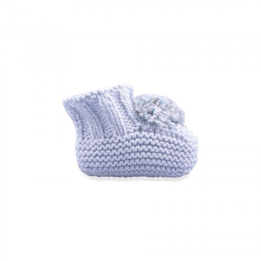 Botinhas tricot bebé echo