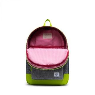 Mochila Heritage Youth 16L Raven Croshatch/Lime Green
