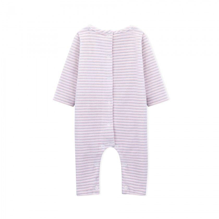 Eve soft velvet babygrow