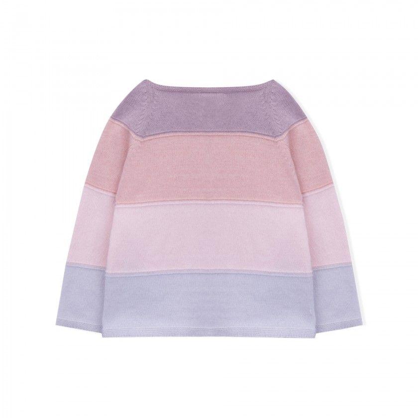 Casaco bebé tricot echo rose