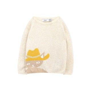 Abigale the cat baby  knitted sweater