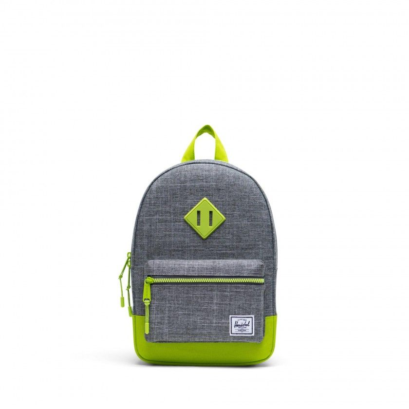 Heritage Youth 9L Raven Croshatch/Lime Green Backpack