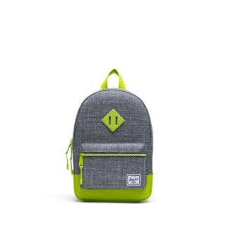 Mochila Heritage Youth 9L Raven Croshatch/Lime Green