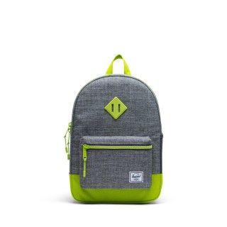 Heritage Youth 16L Raven Croshatch/Lime Green Backpack