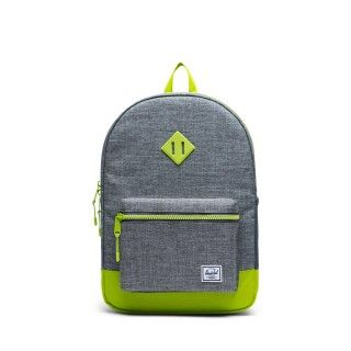 Mochila Heritage Youth XL 22L Raven Croshatch/Lime Green