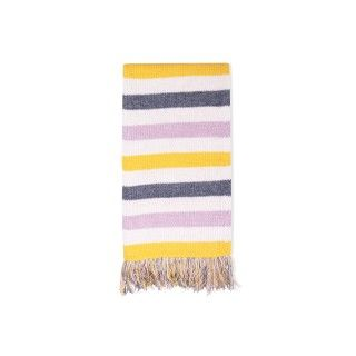 Blossom stripes knitted scarf