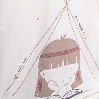 T-shirt menina manga comprida nakoma
