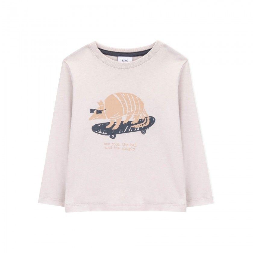 T-shirt menino manga comprida armadillo
