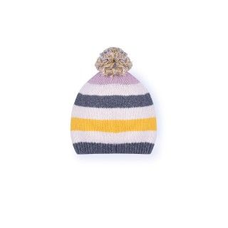 Blossom stripes knitted beanie