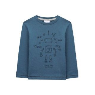 T-shirt menino manga comprida robby the robot