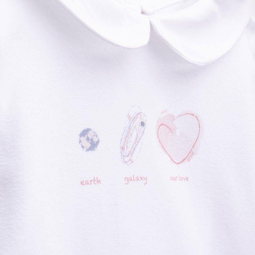 T-shirt bebé manga comprida nyota