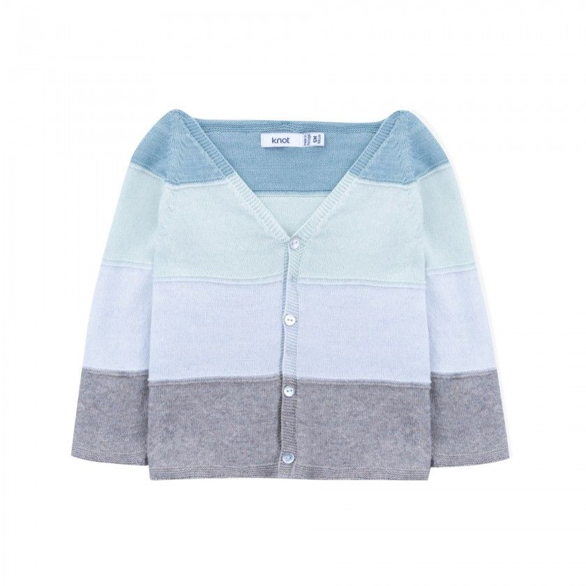 Echo blue baby  knitted cardigan