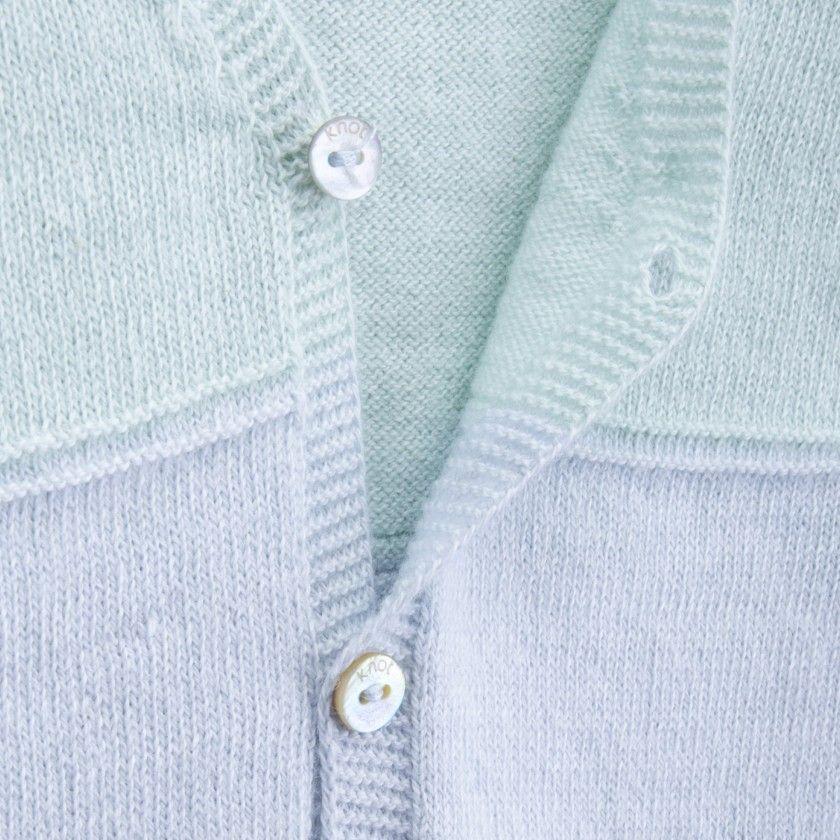 Casaco bebé tricot echo blue