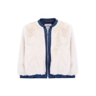 Constance fur and denim bomber