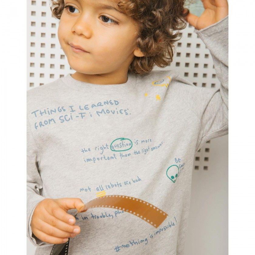 T-shirt menino manga comprida steven