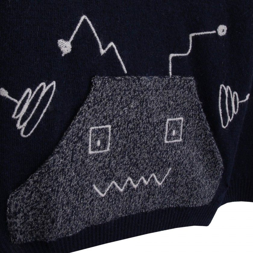 Android invasion boys knitted sweater