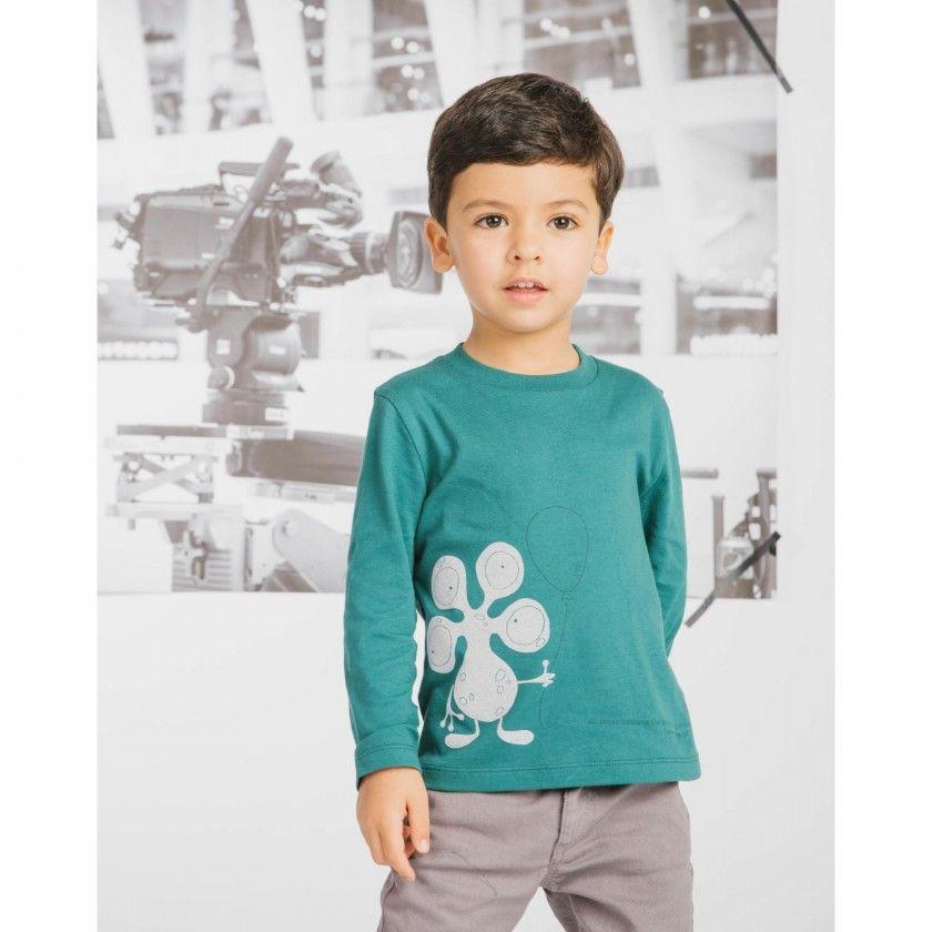 T-shirt menino manga comprida E.T.