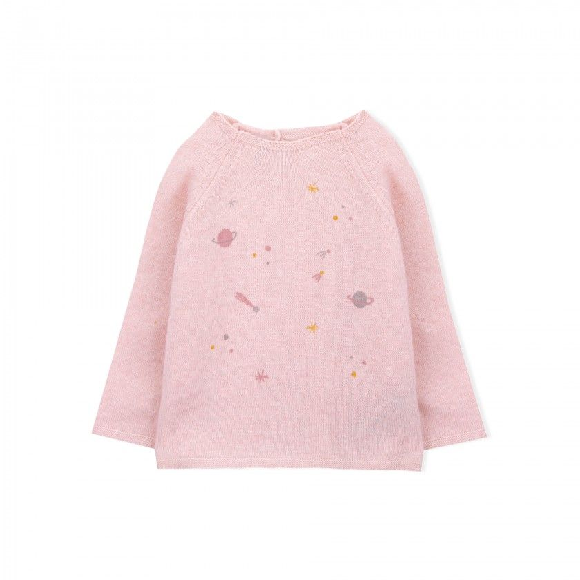 Milky way baby  knitted sweater