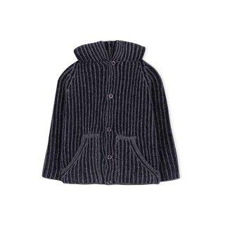 Casaco bebé tricot capuz houston