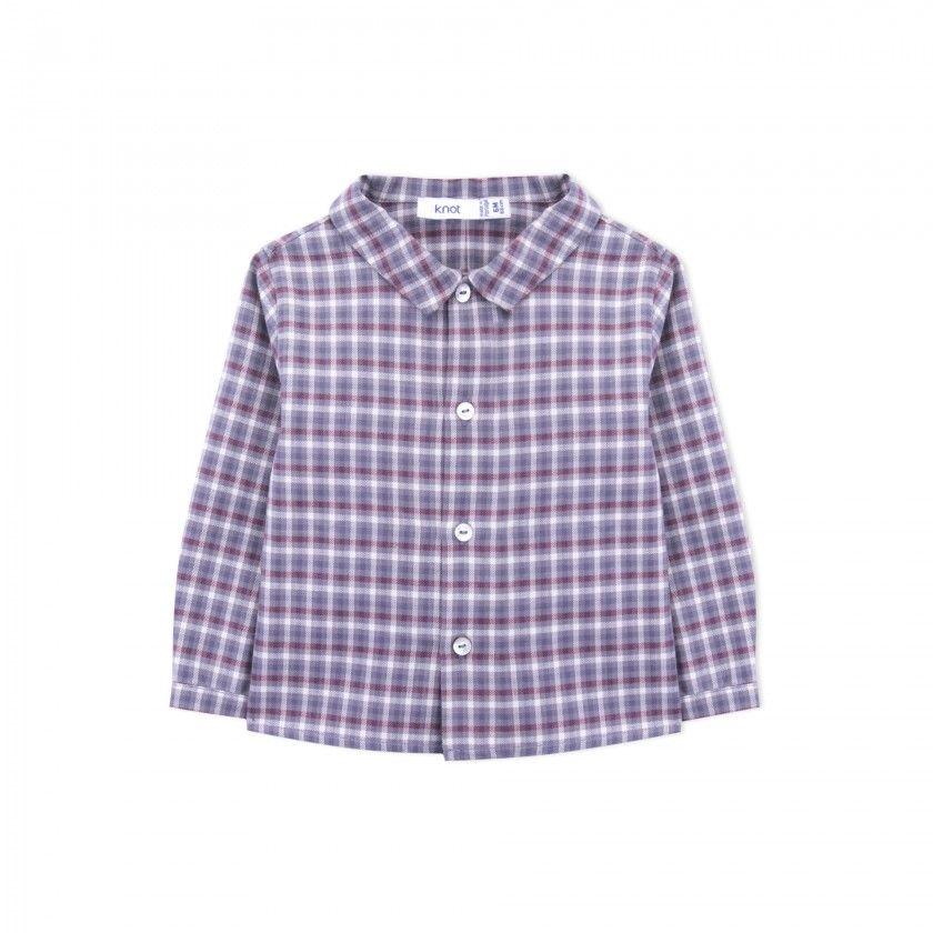 Camisa bebé xadrez wyatt