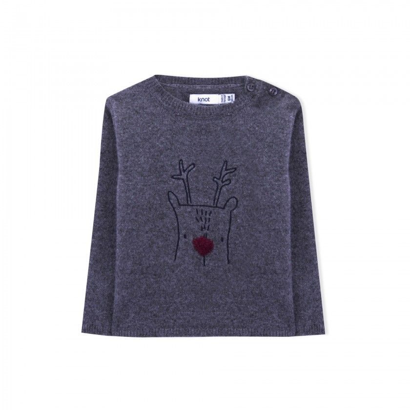 Camisola bebé tricot buddy the reindeer