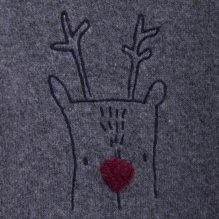 Buddy the reindeer baby knitted sweater