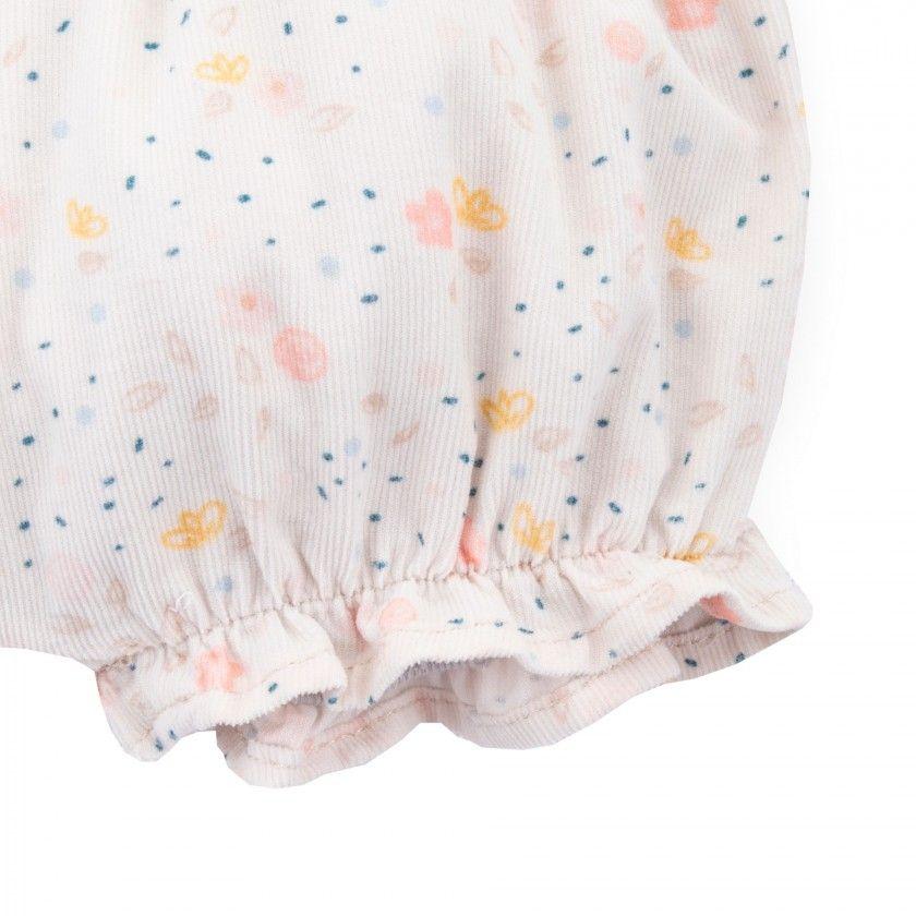 Calções bebé bombazine Flora