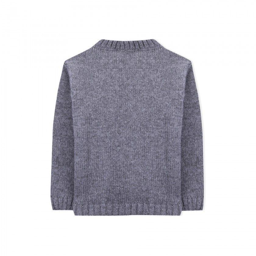 Eddie the yeti boys knitted sweater