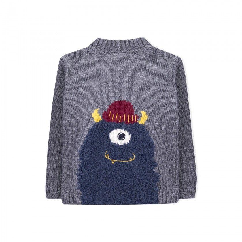 Camisola menino tricot eddie the yeti