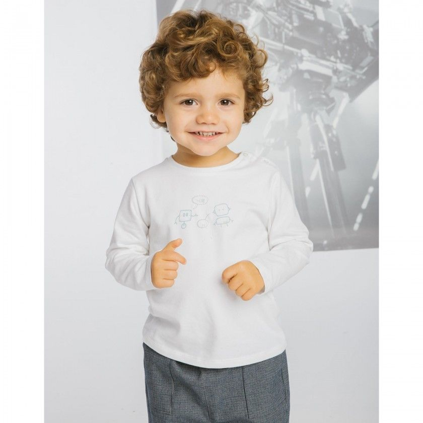 The robots long sleeve baby t-shirt