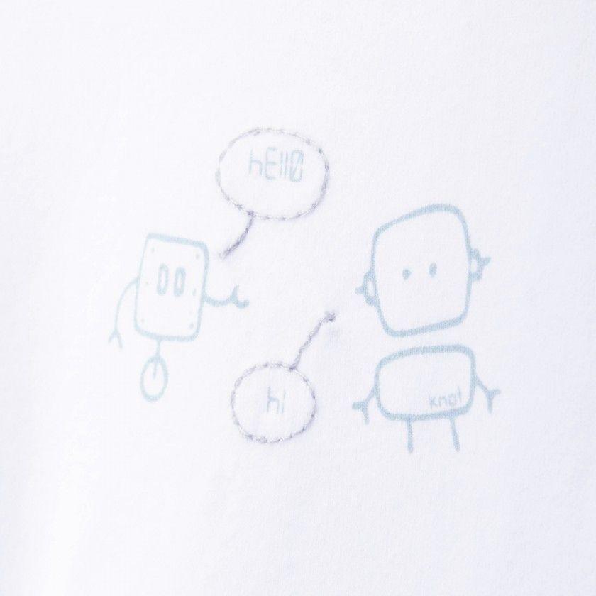T-shirt bebé manga comprida robots