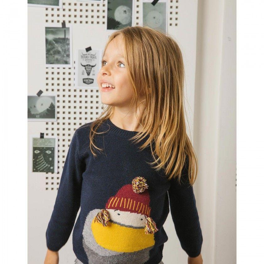 Camisola menina tricot freezing carol