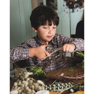 Camisa menino xadrez ennis