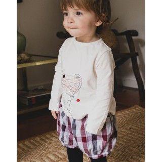 T-shirt bebé manga comprida clarice
