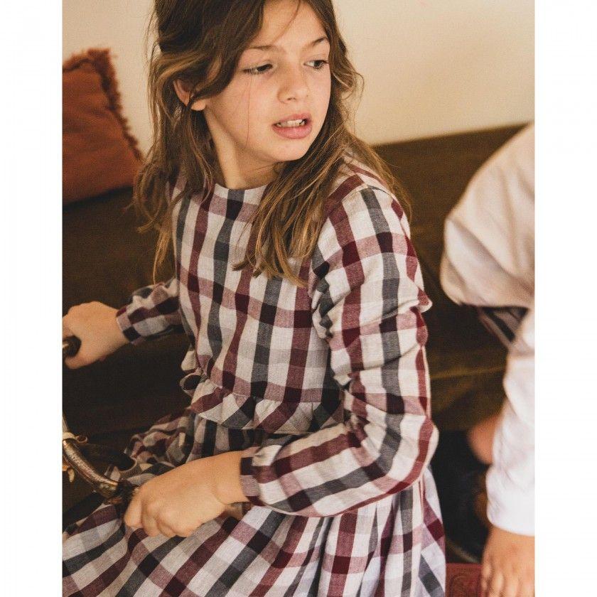 vestido xadrez  menina kath