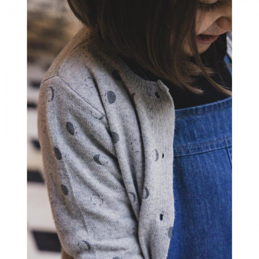 Casaco menina tricot moons