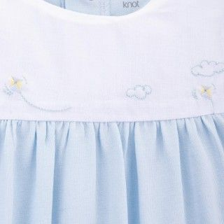 Blue skies cotton babygrow