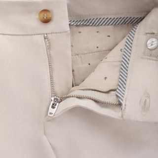 Satiny cotton boy party trousers