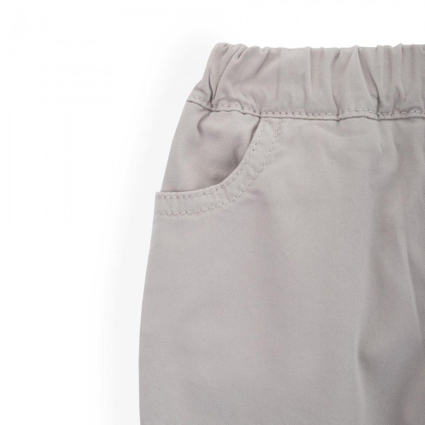 Dyan cotton twill baby trousers