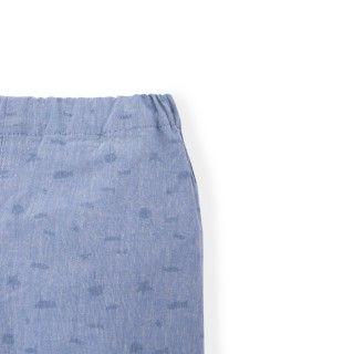 Barney chambray baby shorts