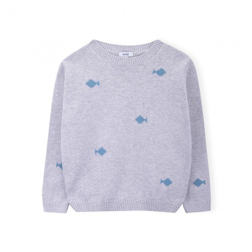Camisola tricot Fish