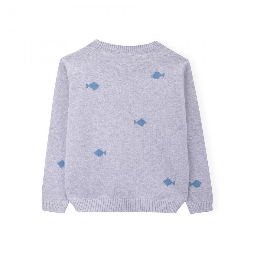 Camisola menino tricot Fish