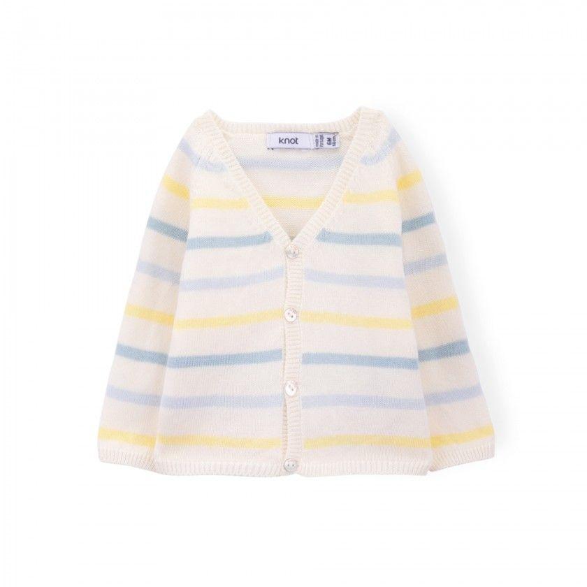 George knitted baby cardigan