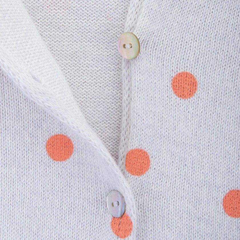 Casaco menina tricot Polka dots