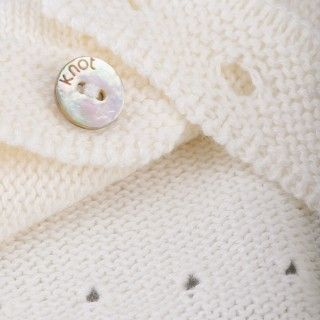 Snap knitted cotton baby-cap