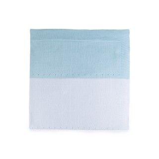 Maris knitted cotton baby blanket