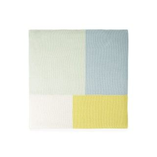 Patchwork knitted cotton baby blanket