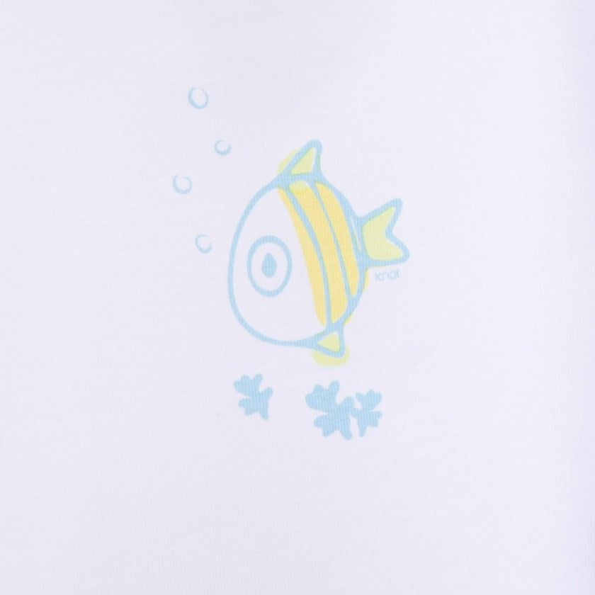 Body t-shirt bebé Blue fish